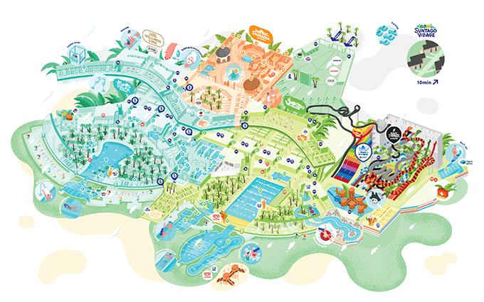 mapa suntago